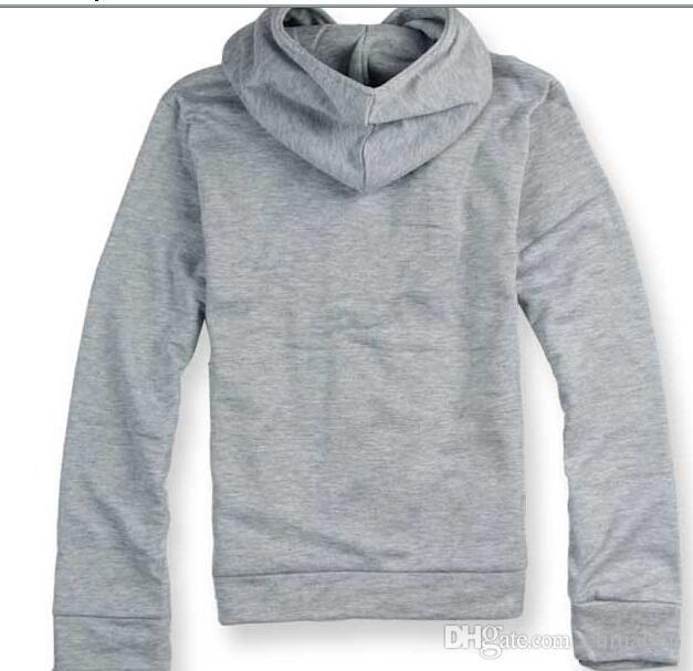 DORP SHIPPING 2015 HOT Brand New diagonale zipper Felpe con cappuccio da uomo Felpe Giacca taglia M, L, XL, XXL, XXXL