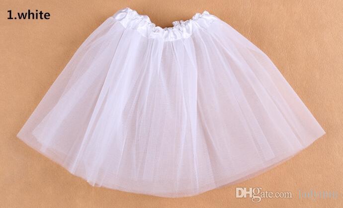 Top Quality candy color kids tutus skirt dance dresses soft tutu dress ballet skirt 3layers children pettiskirt clothes .