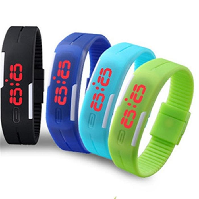 electronic digital item led wrist watches product bracelet women sport men waterproof new watch colorful rubber
