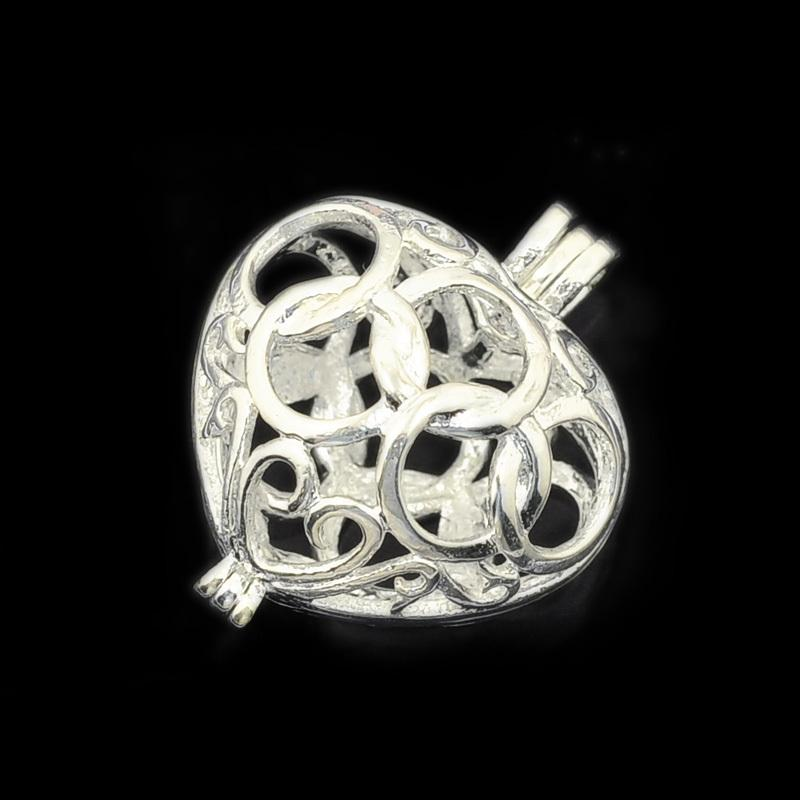 2018 wholesale 1519mm silver filigree heart brass charm cage 2018 wholesale 1519mm silver filigree heart brass charm cage pendant lockets pearl cage sea glass for diy lockets pendant from fashionexpress mozeypictures Image collections