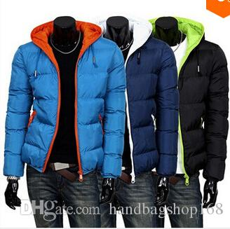 80602a5cf3a8 2014 Mens Winter Jacket Men s Hooded Wadded Coat Winter Thickening ...