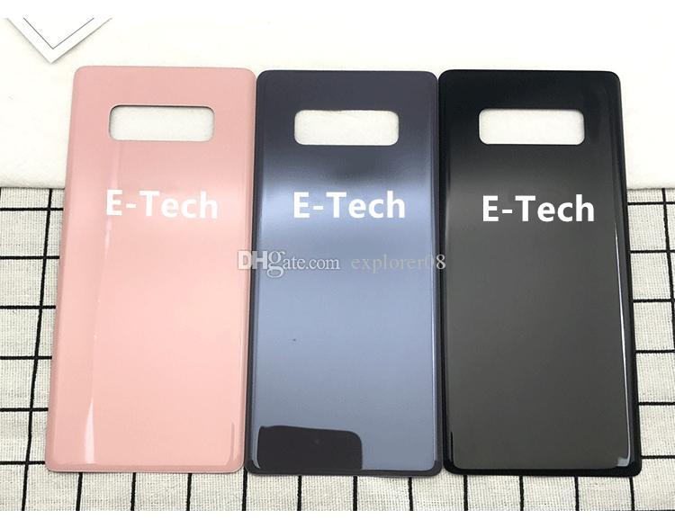Batteriefach Zurück Gehäusedeckel Glasabdeckung mit Anhaftender Aufkleber für Samsung Galaxy Note 8 N950 zurück gehäuse Ersatzteile 10 Teile / los