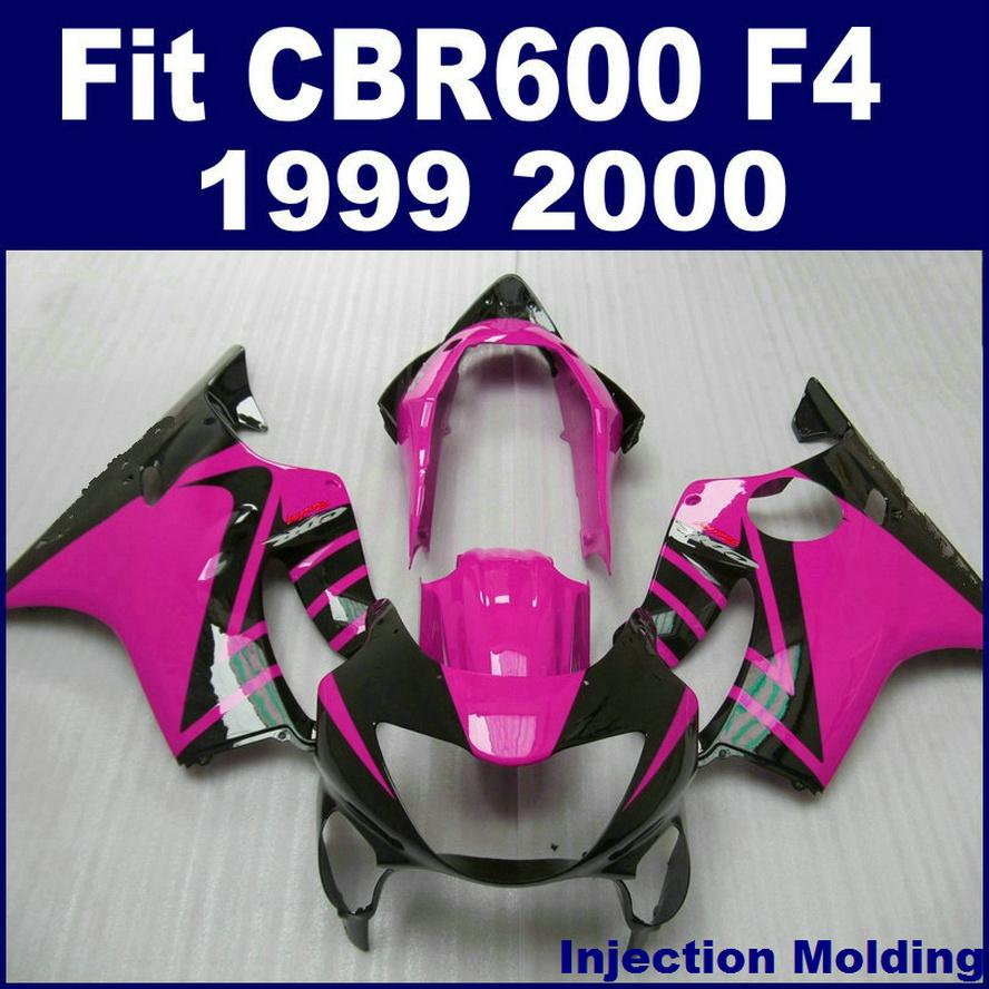 100% road Injection molding for HONDA fairing parts CBR 600 F4 1999 2000 red black cbr600 f4 99 00 custom fairing HSHY