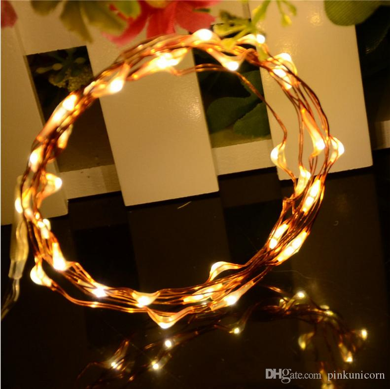 3 Meters 30 Lamp Waterproof 3a Battery Box Copper Wire Lamp String ...
