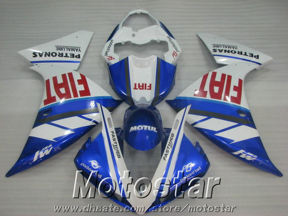 7 free gifts plastic fairing kit for YAMAHA R1 2009-2011 2012 2013 blue white bodykits YZF R1 fairings set 09-13 HA6