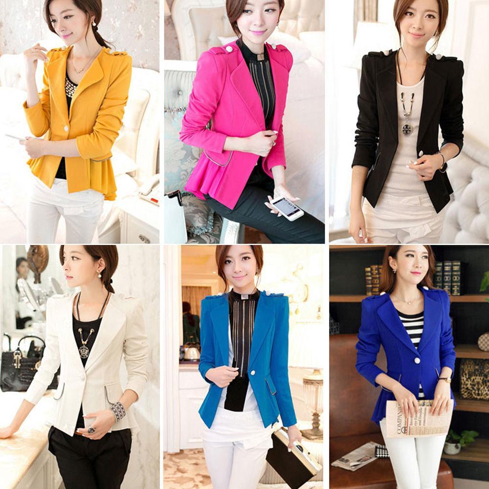 Womens Ladies OL Business Casual Peplum Blazer Suit One Button Jacket Coat  M-XL Suits Blazers Online with  41.03 Piece on Tsxdsrf s Store  348c5d082