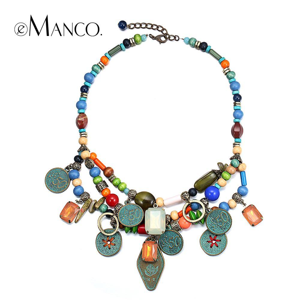 Multilayer Bead Necklace Ethnic Women Choker Necklaces ful Handmade ...
