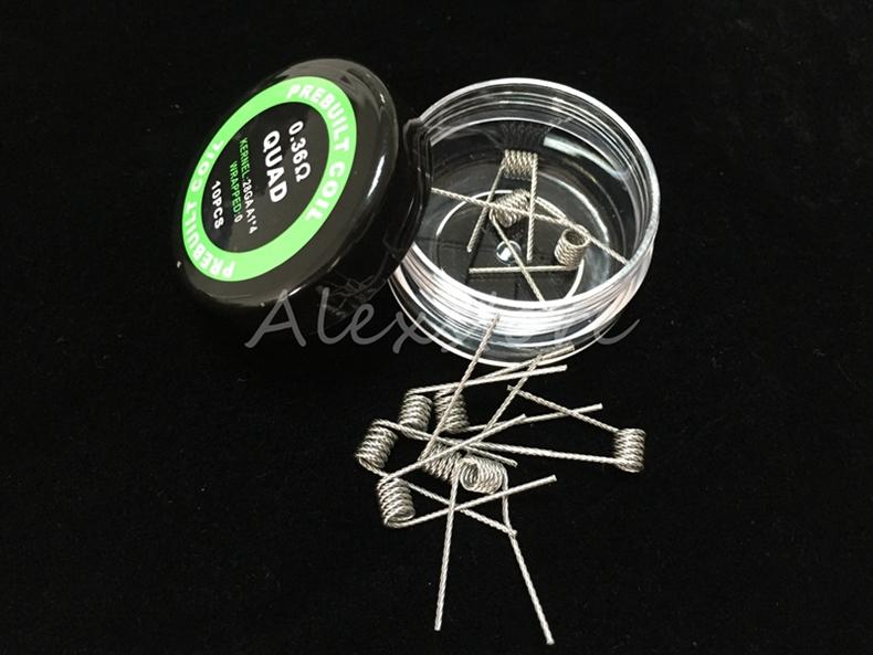 Flat twisted wire Fused clapton coils Hive premade wrap wires Alien Mix twisted Quad Tiger 9 Different Heating Resistance /box for Ecig