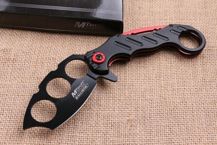 Aço frio 219 Knuckle Duster faca de bolso dobrável lâmina 7CR17Mov Lâmina De Alumínio Handle caça tático faca de acampamento facas com varejo bo
