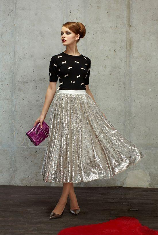 Cheap Sparkling Women Skirts Tea Length 2015 Adult Dequines Lace Party Dresses Skirts A Line Plus Size Long Skirts For Women