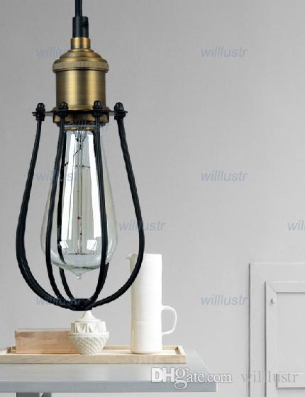 NEW Marconi Small Cage Licht Vintage Pendelleuchte Metall-Hängeleuchte amerikanischen Landhausstil RH Loft-Licht