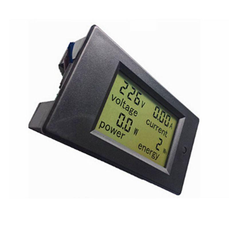 / 디지털 전압계 전류계 AC 220V 100A amp 볼트 미터 전류 LCD 파란색 배면 전압 전력 에너지 변압기 코일
