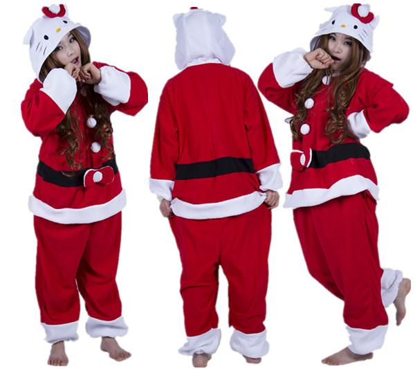 fashion new designer cosplay kawaii anime christmas cat pajamas adult unisex jumpsuit onesie polyester polar cute one piece sleepwear cat onesie jumpsuit