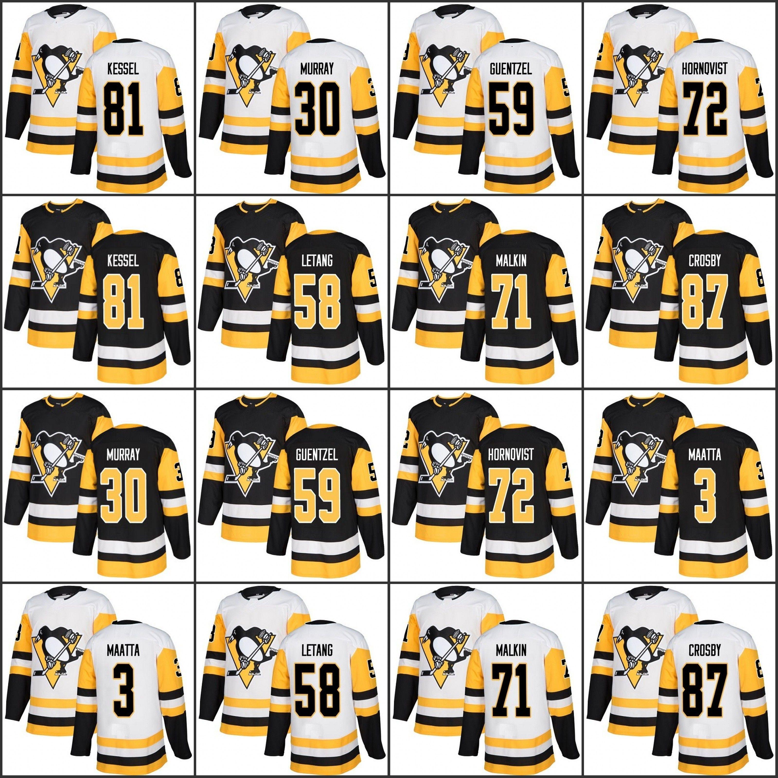 efba6b056 2019 Men S Youth Women Pittsburgh Penguins 71 Evgeni Malkin 72 Patric  Hornqvist 87 Sidney Crosby 81 Phil Kessel Kris Letang Black Home White From  B2bcn