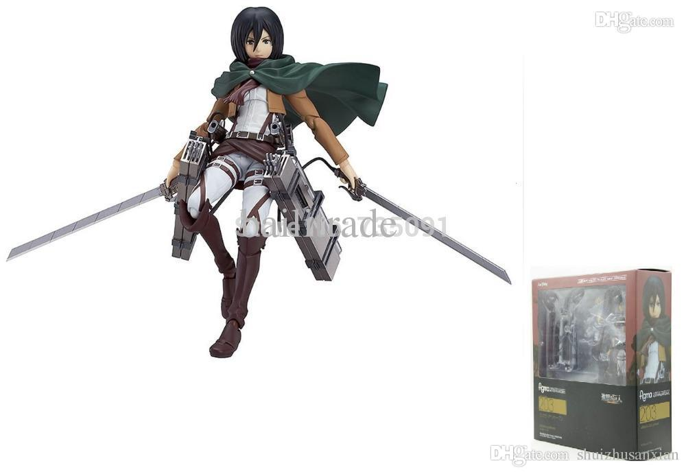 2018 wholesale good smile attack on titan mikasa ackerman figma 2018 wholesale good smile attack on titan mikasa ackerman figma action figure new original package from shuizhusanxian 2637 dhgate voltagebd Images