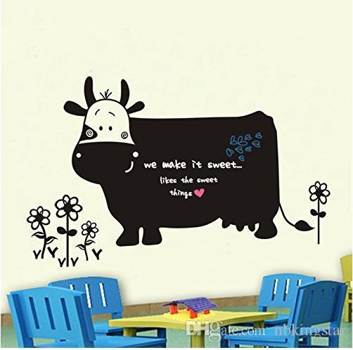 DIY Amovible Baleine Blackboard Vinyle Étanche Animal Stickers Muraux Enfants Chambre Décor Nursery Decal Autocollant Papier Peint /