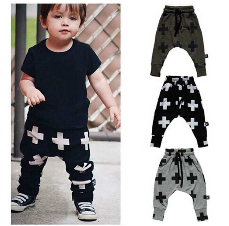 Girls Boy Toddler Child Fashion Boys Pants Trousers Leggings Cross