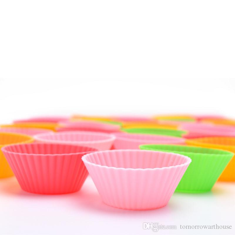 Silicone Cake Muffin Chocolate Cup Cake Cups Mold Cake Cup Kitchen Bakeware Baking Pastry Tools