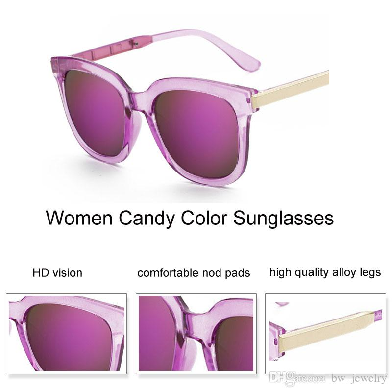 Fashion Mirror Square Sunglasses Women Brand Designer Candy Color Oversized Sun Glasses Female Pink Eyewear Transparent Oculos