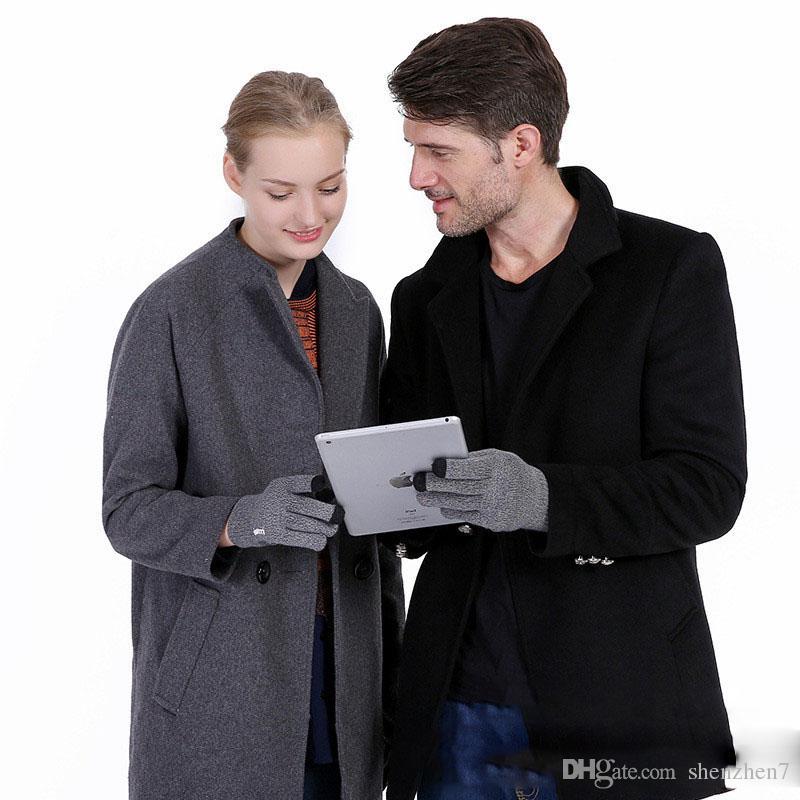 Luxe iwarm Anti-dérapant Capacité Écran Gants Chaud Gants De Conduite En Hiver Écran Tactile Pour ipad iPhone Samsung HUAWEI Tablet OTH694