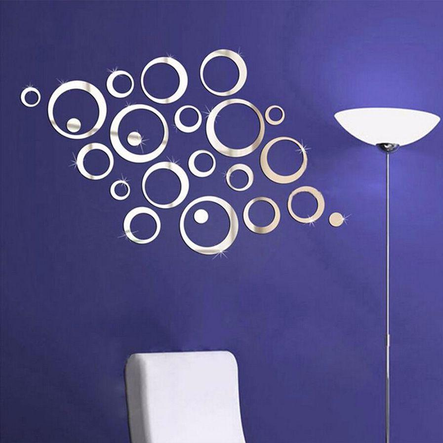 DIY Circle Acrylic Mirror Vinyl Art Mural Wall Sticker Room Decoration Sofa TV Background Home Wall Decor