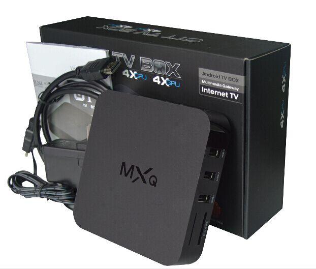 16.1 smart MX MXQ TV BOX Amlogic S805 Quad Core Android 4.4.2 Flux vidéo H.265 1 Go 8 Go Chaînes TV Lecteur multimédia Google Play OTH035