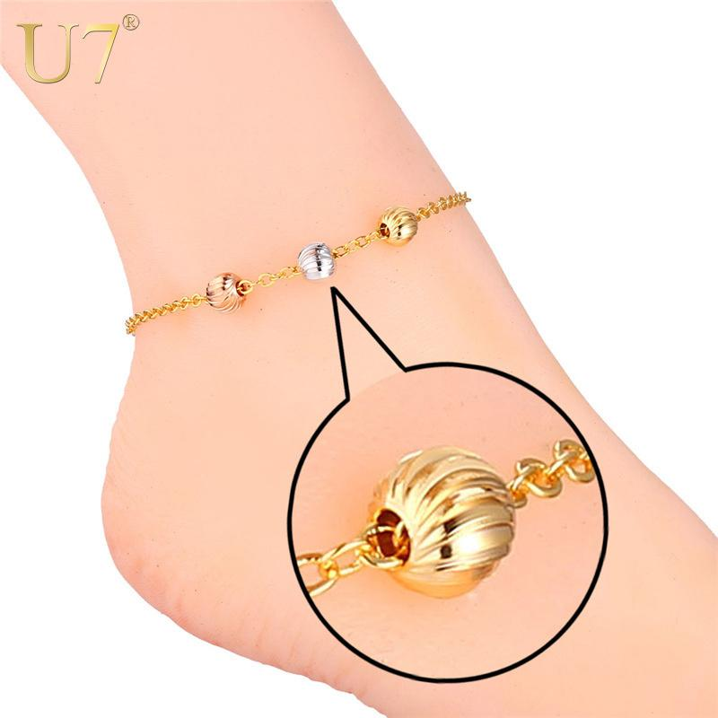barefoot foot anklet men jewelry chain inch cuban cm amazon bracelet women long dp com gold