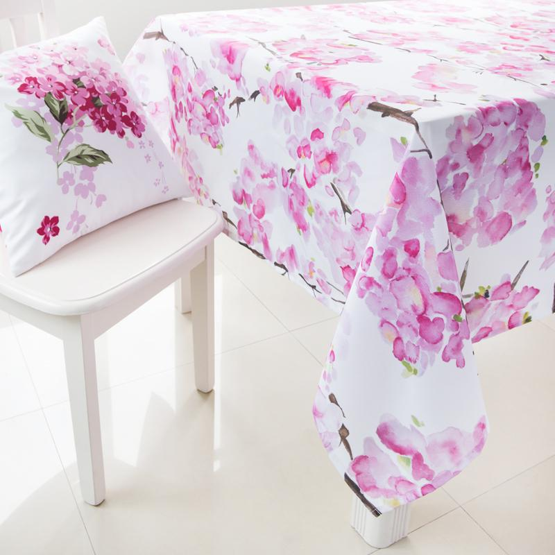 High Quality 2015 New Pink Floral Tablecloth Polyester Table Covers For Weddings  Pastoral Rectangle Table Cloth Wedding Picnic Tablecloth Round Table Cloths  From ...