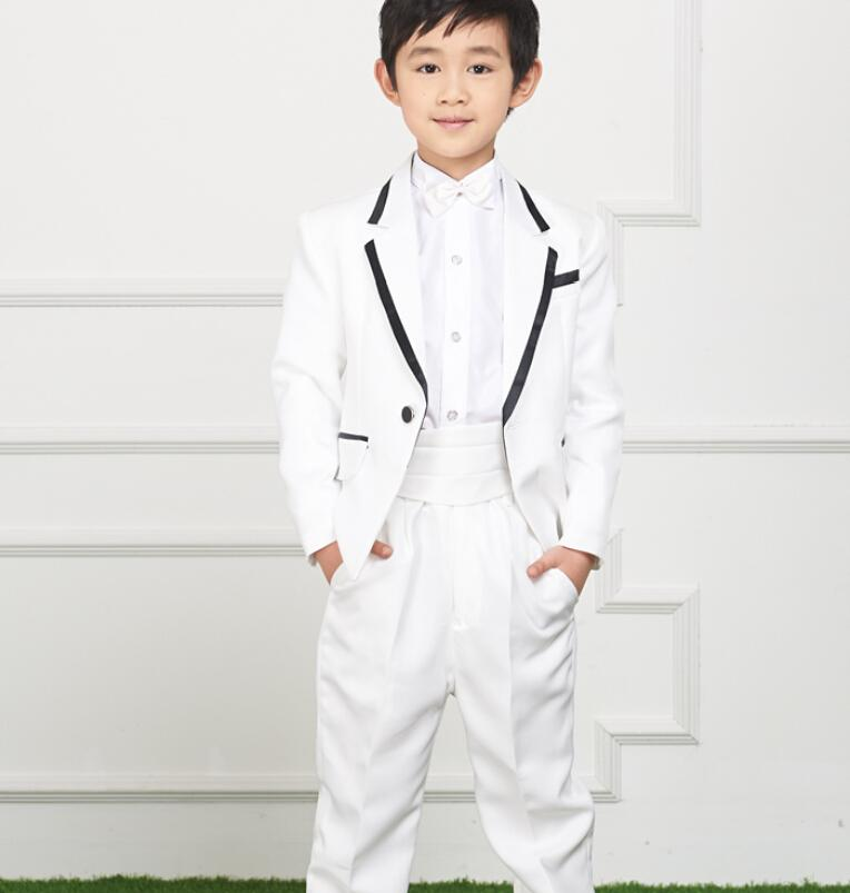 Little Boys Suits For Wedding Fashion Two Piece Boys Tuxedos One ...