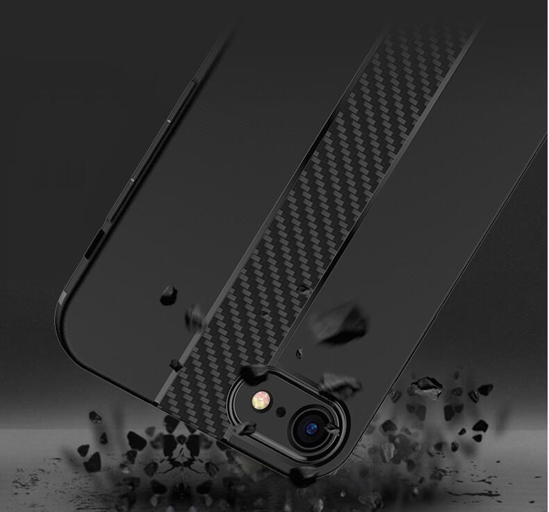Carbon-Faser-Telefon-Kästen für iPhone 6 Fall 6s Plus SE 5 5s Fälle weiche Anti-Knock Cover für iPhone 7 Fall 7 Plus