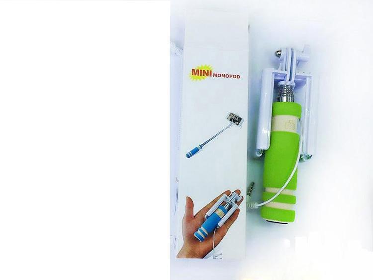 Super Mini verdrahteter Selfie-Stock-tragbarer erweiterbarer faltender Handeinbeinstativ-Selbstauslöser mit Nut-Audiokabel für iPhone Samsung-Mobiltelefon