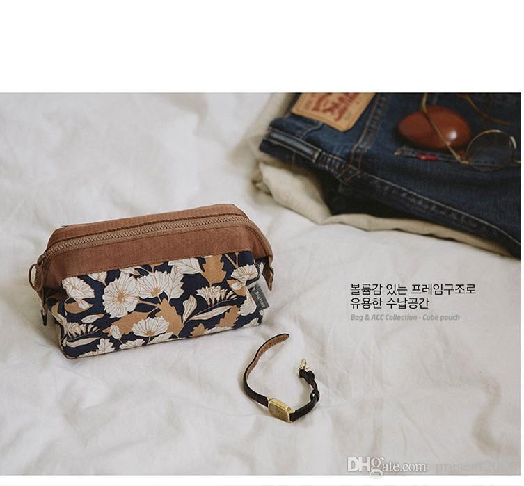 Makeup Storage Bags With Multicolor Pattern Flamingo Cute Cube Cosmetics Pouchs zipper For Travel Ladies Pouch Women Cosmetic Bag