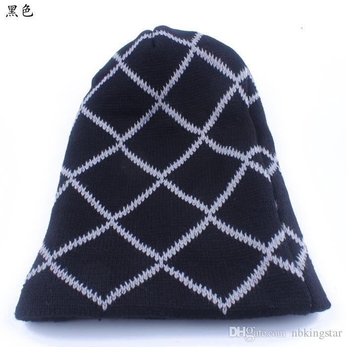 Мужские вязаные шапочки вязаная шапка сетка череп зимний капот шляпа 10 шт. / Лот бесплатная доставка