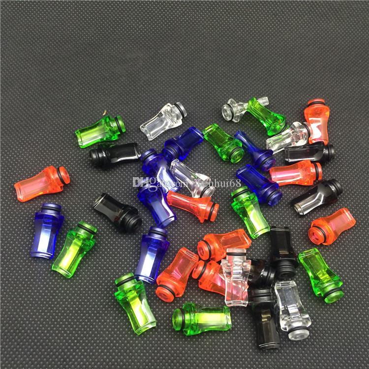 cheap E cigarette Plastic Drip Tip 510 Drip Tip Flat Mouth Mouthpiece Drip Tip Transparent Colorful Drip Tip For Ego Atomizer Ego Battery