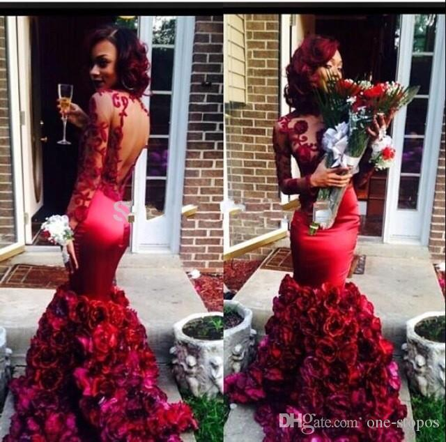 Red Rose Mermaid Dress