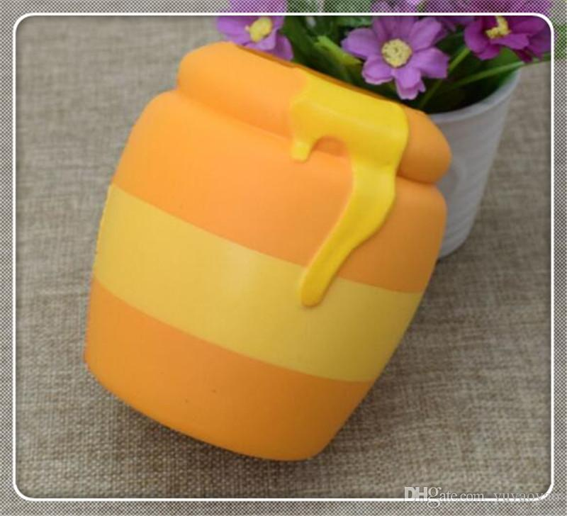 sale promotion Squishy simulation food model honey jar PU slow rebound pinchle resin handicraft stress relief toy999
