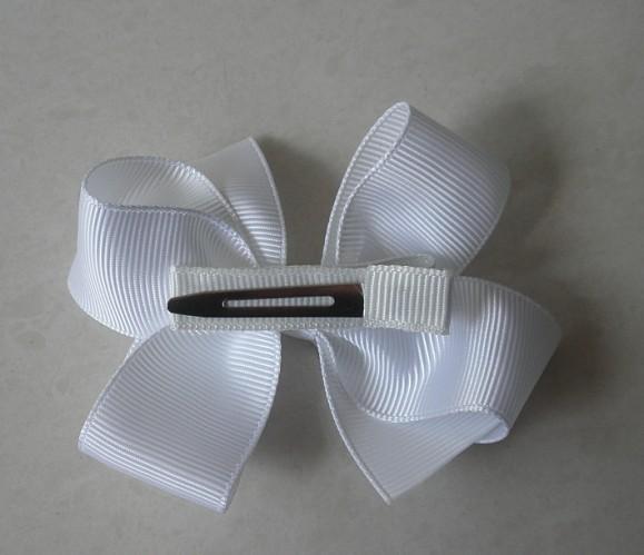10st Flickor hår Tillbehör Baby Hårbåge Grosgrain Ribbon Bows Hårband Spotty Färgrikt med Clip HD3301