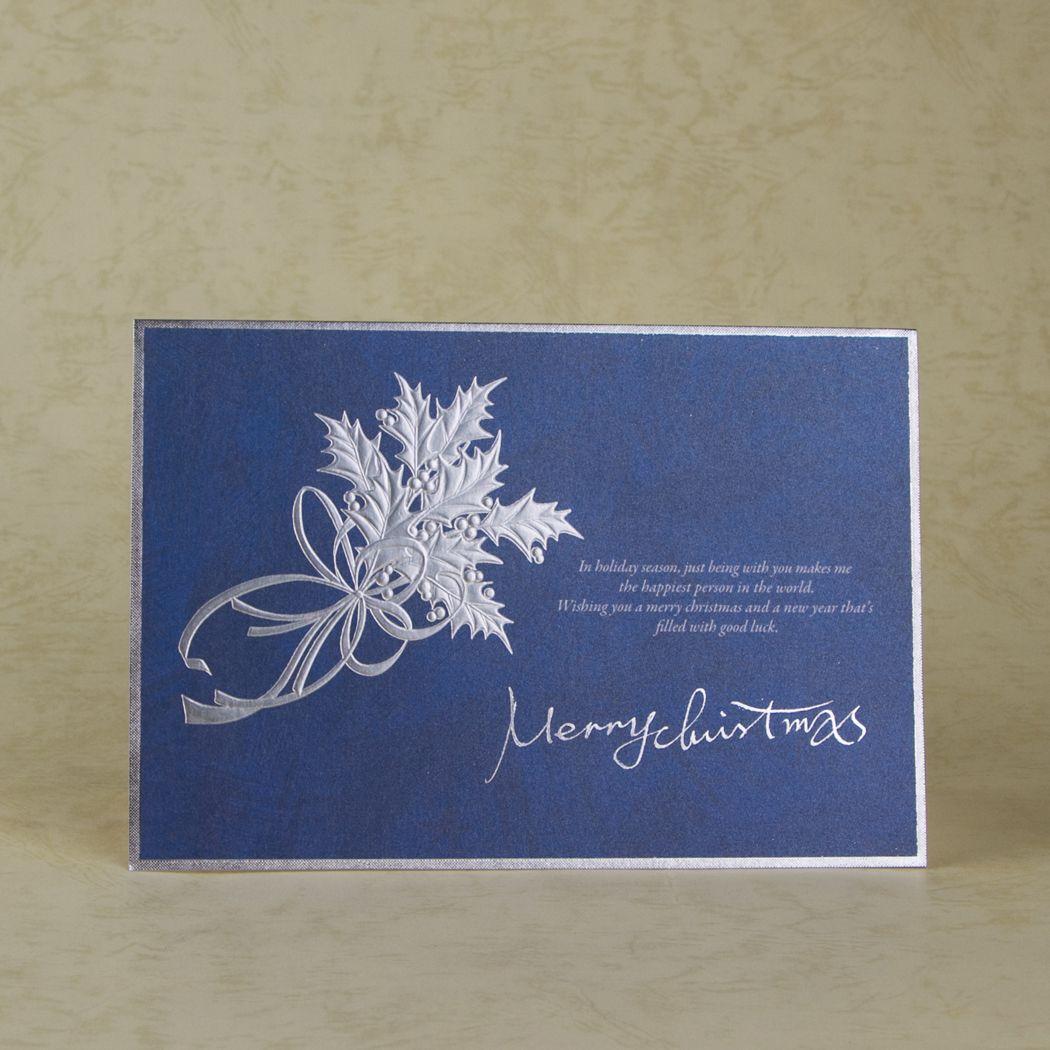 Creative Christmas Cards Royal Blue Christmas Card Creative Floral Design Pattern Mini