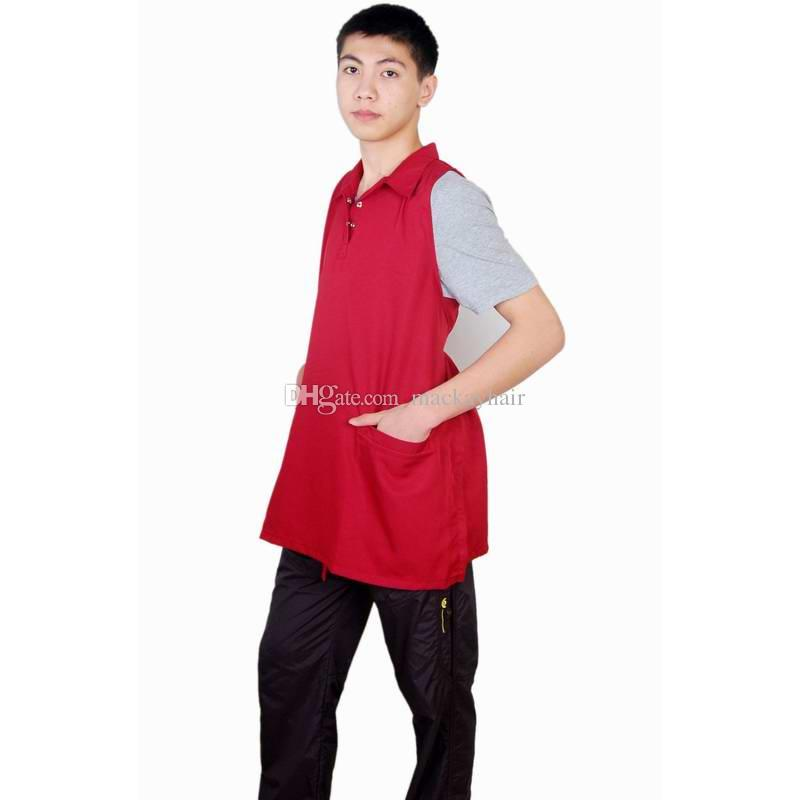 Cutting Cape for Dressing Hair Apron Barber Jacket Salon Uniforms Memory Fabric Black Blue Brown Red Color DHL Free Shipment