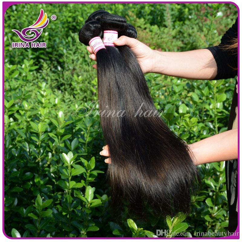50٪ ٪! أعلى جودة 100٪ شعرة الإنسان نسج لحمة غير المجهزة رخيصة البرازيلي بيرو الماليزي الهندي مستقيم الشعر 3 حزم