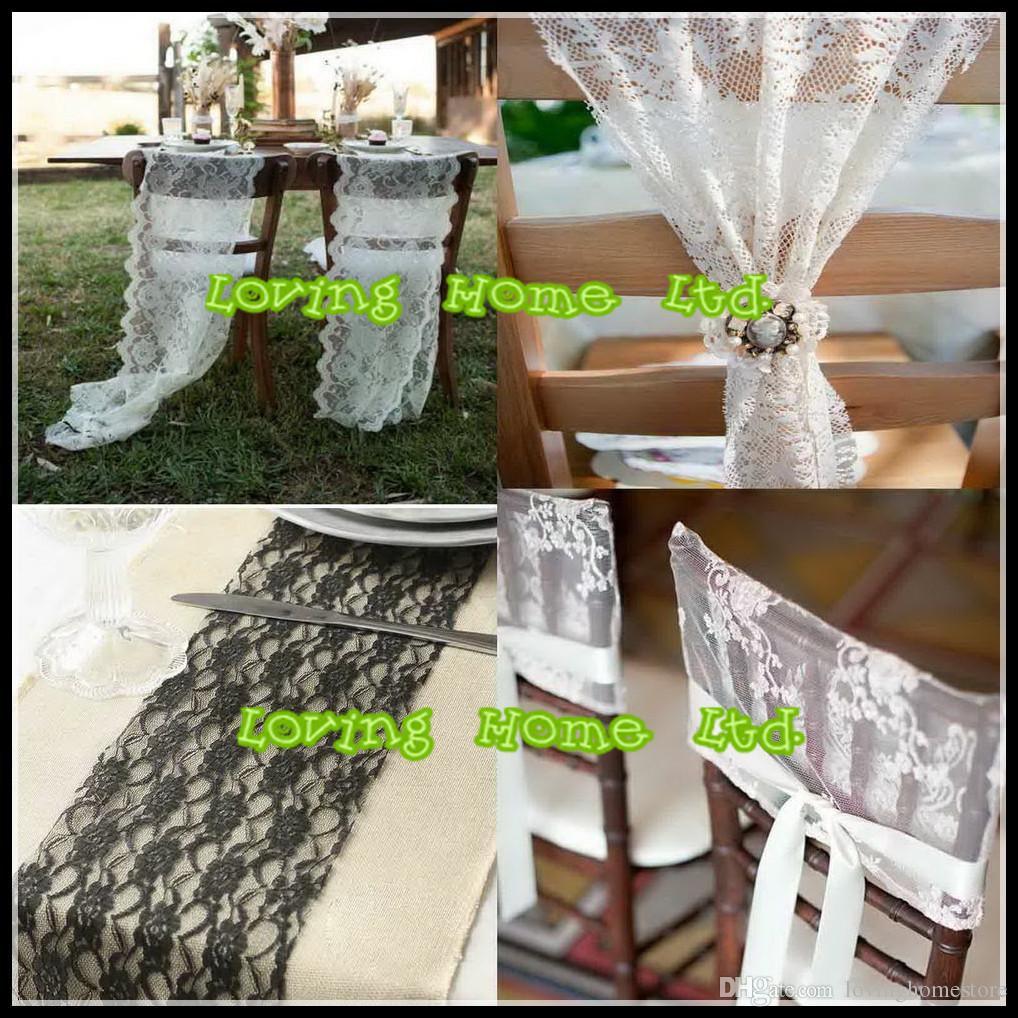 10 Yard 15cm Wedding Party Venue Decoration Lace Tulle Roll Chair Sash Table Runner Centrepiece Decor