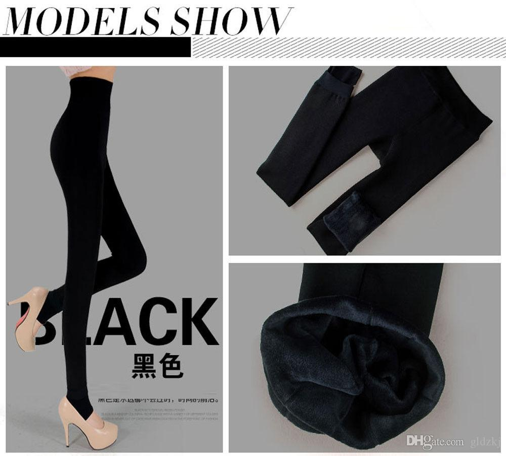 f1b75ccc69546 2019 Women Winter Thick Fleece Lined Thermal Leggings Tights Pants Color  DEB From Gldzkj, $11.0 | DHgate.Com