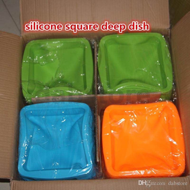 piatto caldo della cera del silicone di DHL piatto profondo quadrato di forma 8