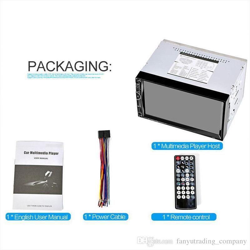 7 '' HD Pantalla Táctil 2Din Radio de Coche MP5 FM AUX Reproductor Bluetooth USB entrada de audio Envío Gratis