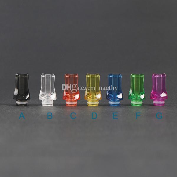 Punte di gocciolamento 510 di plastica di vendita calda Punte di gocciolamento ricchi di colori CE4 Vivi Nova RAD DCT Sigarette elettroniche EGO di torsione Mod Vaporizzatore 510 atomizzatore di EGO
