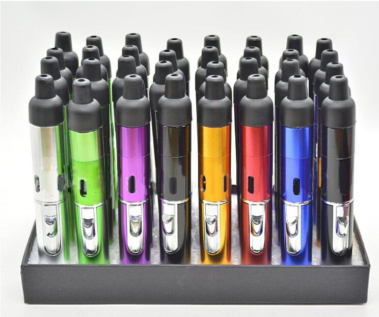 2015 Click N Vape Sneak Vaporizer Pen Dry Herb Vaporizer Smoking Metal Pipe Wind proof Torch Lighter For Dry Herb and Wax DHL