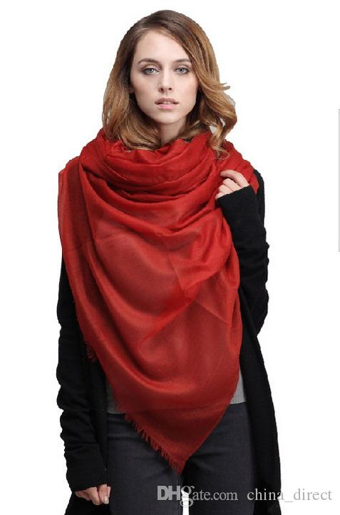 Elegant Inner Mongolia 100% 300 cashmere wool scarf Shawl Wrap Women's Girls Ladies Scarf Christmas gift 230*100cm 60grams 2pcs/lot #3962