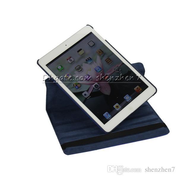 For iPad mini ipad Air 2 3 4 5 360 degree Rotary Rotating Stand cover Maple Diamond Bling Rhinestone Flower Flip PU Leather Case PCC026