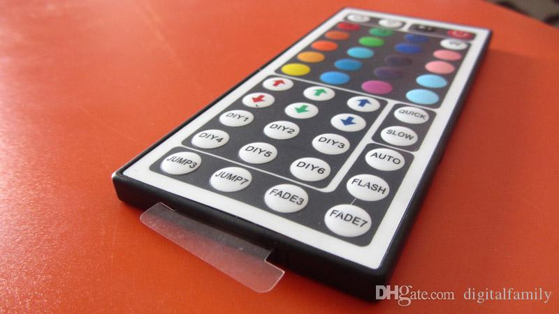 جهاز تحكم LED صغير RGB مع 44 مفتاح تحكم عن بعد لـ SMD 5050/3528 RGB LED Strip Light