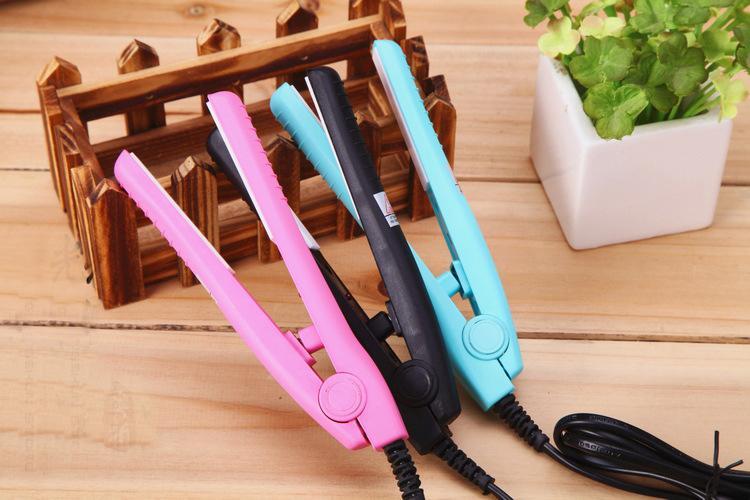 Travel iron Mini hair straightener/Mini hair iron/Promotion gift/portable hair straightner/ceramics plate